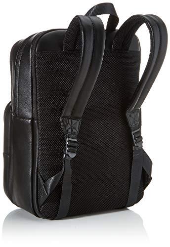 41tXoVrZW L - Calvin Klein - United Pu 3g Square Backpack, Mochilas Hombre, Negro (Blackwhite Black), 1x1x1 cm (W x H L)