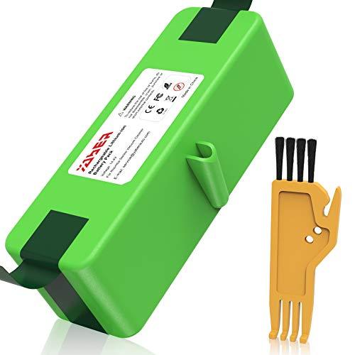 YABER 6400mAh Li-ion Akku für iRobot Roomba, Lithium-Ionen Batterie für Saugroboter Serie 500 600 700 800, Roomba Ersatzakku mit Ersatzteile Bürste Zubehör