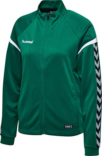 Hummel Damen Polyesterjacke Authentic Charge Poly Zip Jacket 33402 Evergreen M