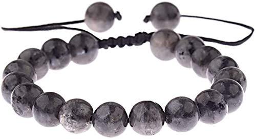 Plztou Pulsera de piedra Mujer, 7 chakra 8mm perlas de piedra natural de mármol Ajustable Brazalete de rezo Joyería de la joyería Yoga Energía Balance Reiki Unlimited Charm Regalo para un amigo Pareja