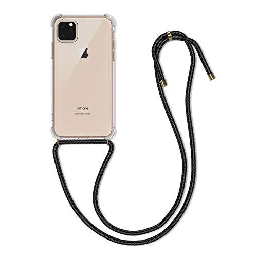 kwmobile Funda con Cuerda Compatible con Apple iPhone 11 Pro MAX - Carcasa Transparente de TPU con Cuerda para Colgar en el Cuello