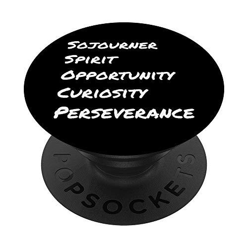 NASA Mars Rovers Spirit Opportunity Curiosity Perseverance PopSockets PopGrip: Agarre intercambiable para Teléfonos y Tabletas