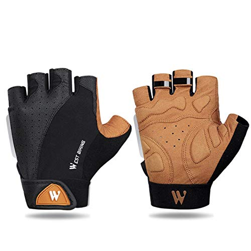 Cycling Gloves Motorcycle MTB Bike Bicycle Men Women Full Half Finger 3D pad Breathable Shockproof Absorbing Antiskid Washable Mountain Road Summer Sports Riding Racing,Half Finger,S 7.5.