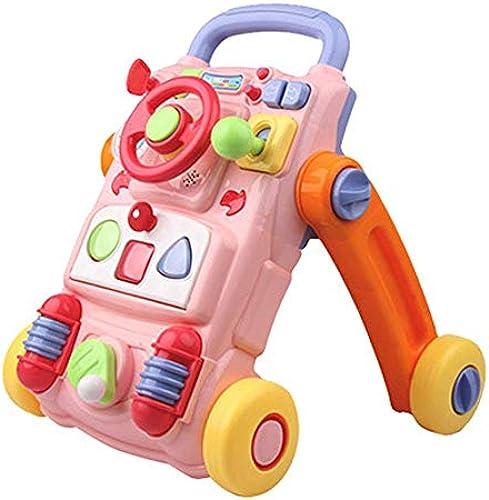 YZWJ Baby Walker Multifunktionale Baby Kinder Trolley Puzzle Frühes Lernen 0-2 Jahre Rippen Spielzeug Jungen mädchen Musik Walker