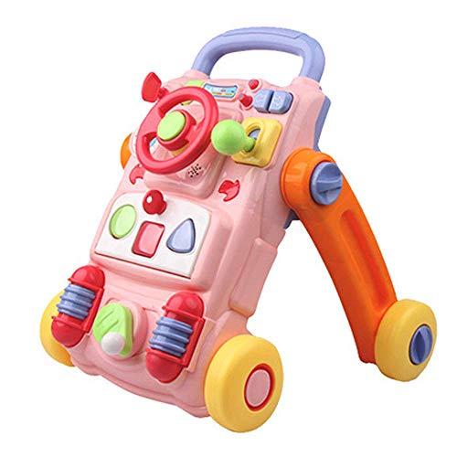 YZWJ Baby Walker Multifonctionnel Bébé Chariot Puzzle Enfants Apprentissage Précoce 0-2 Ans Côtelettes Jouets Garçons Filles Musique Walker