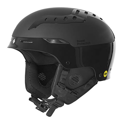 Sweet Protection Switcher MIPS Ski and Snowboard Helmet, Gloss Black, Medium/Large