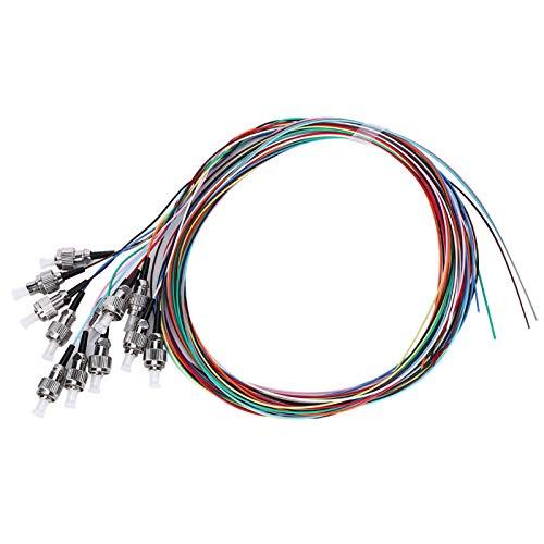 Kadimendium Fibra monomodo de 12 núcleos, Duradera para Usar Cable Flexible de Fibra Cables de conexión de Fibra para Sistemas de comunicación de Fibra óptica para Redes de área Local de Fibra óptica