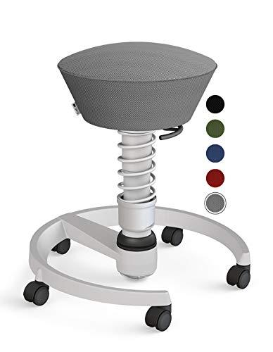 aeris Swopper Air New Edition Ergonomischer Hocker mit Rollen – Dynamischer Bürostuhl für einen gesunden Rücken – Bürohocker und Sitztrainer – 45-59 cm Sitzhöhe, Feder Standard