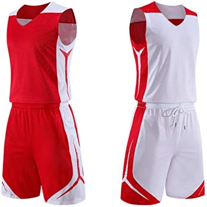 Red and white basketball jersey