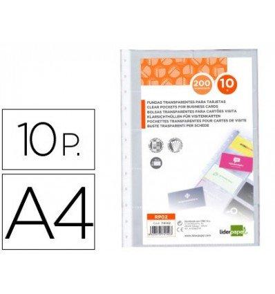 Liderpapel RP02 - Pack de 10 fundas para tarjetas, A4