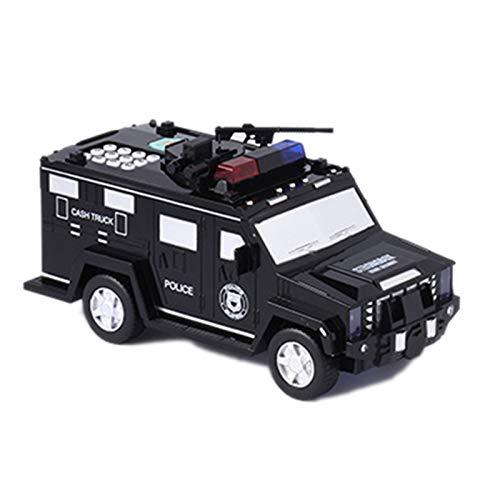 Yantan Hucha digital para niños, juguete electrónico, hucha, hucha, hucha, dinero, coche, camión, color negro