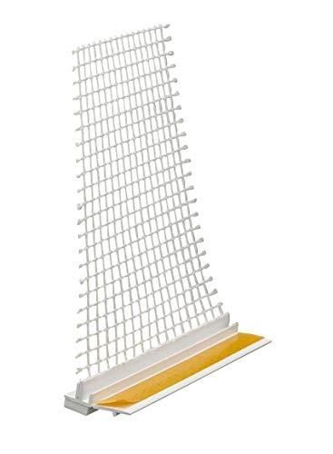 30 x Anputzleiste 9 mm mit Gewebe 260 cm = 78 lfdm Anputzleiste Putzleiste Fensterleiste APU Armierungsgewebe