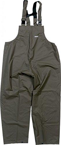 Ocean Rainwear Damen Herren Regenlatzhose Comfort Heavy Segelhose, Farbe:Oliv, Größe:M