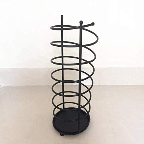 Zfggd Home Hotel Iron Restaurant Black And White Twocolor Spring Shape Storage Rack (Color : A)