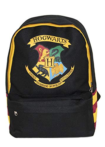 HARRY POTTER Hogwarts Backpack Zainetto per bambini, 38 cm, 20.14 liters, Nero (Black)