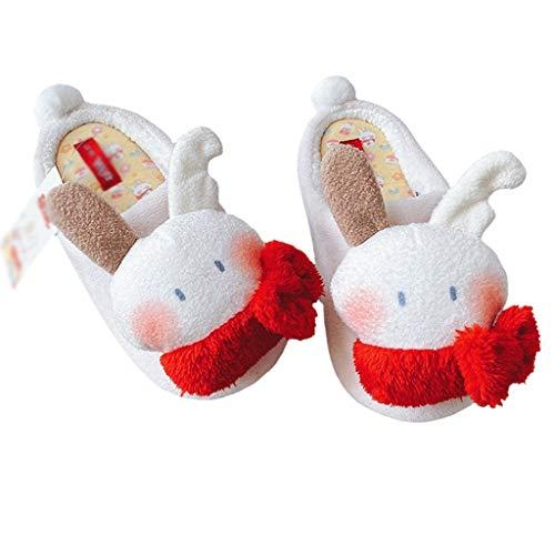 UXZDX Conejo japonés hogar Zapatos Mujer Invierno cálido hogar Zapatillas Antideslizantes cómodas Zapatillas de Suelo de Madera para Interior Mujer (Size : 36-37)