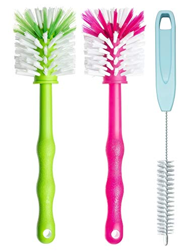 Preisvergleich Produktbild Deine Bürste - 3er Pack Reinigungsbürste Spülbürste für Mixbehälter und Messer - Ideales Zubehör zum Reinigen von Küchenmaschinen