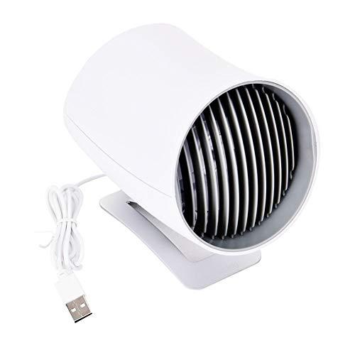 DOUBEI Portátil Mini Tranquilo Smart Touch Control Electric Fan Mesa de Escritorio Coche USB Fans de Carga Decoración del hogar,Blanco