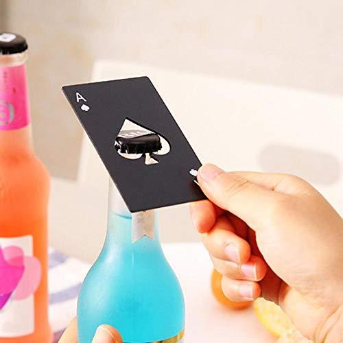 Bier Flasche Öffner Black Poker Card Spaten Bier Flaschenöffner personalisierte Edelstahl Flaschenöffner Bar Werkzeug