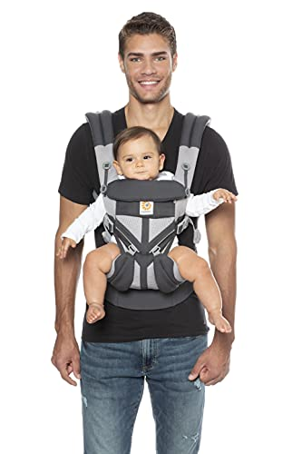 Ergobaby Omni 360 All-Position Baby Carrier for Newborn to Toddler with Lumbar Support & Cool Air Mesh (7-45 Lb), Carbon Grey