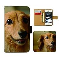 DIGNO G 601KC ケース 手帳型 犬写真 手帳ケース スマホケース カバー 犬 いぬ ペット ミニチュアダックス E0291040097805