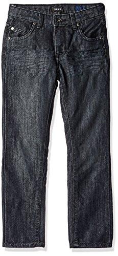 DKNY Boys' Big Mott Stretch Denim Straight Fit Jean, wash Black, 14