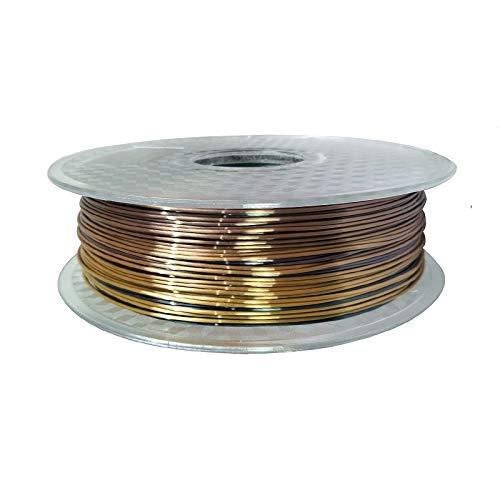 XPOXx 1,75mm Seide PLA-Filament 250g glänzendes metallartiges 0,25 kg schwarz rot usw. 19 Farben Seide 3D Druckerfilament für DIY Grafikdruck PLA-Filament (Color : 11 Rainbow 250g)