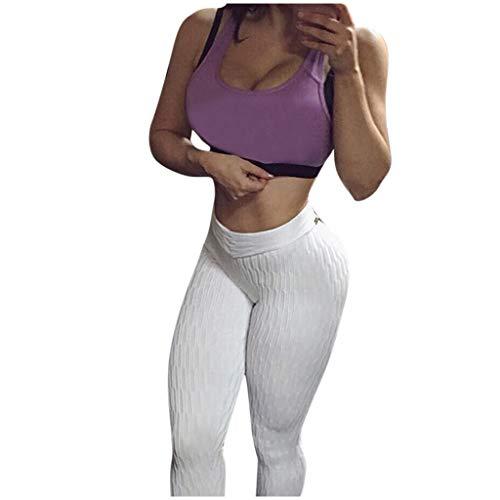 Yoga Pantalons Sports Leggings Femme, Femmes Taille Haute Yoga Fitness Leggings en Cours d'exécution Gym Stretch Sports Pantalons Pantalons Par