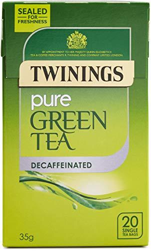 Twinings Pure Green Tea Decaffeinated 20 Single Tea Bags, 35g