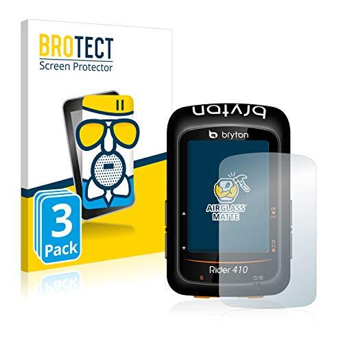 3X BROTECT AirGlass Matte Premium Glasfolie für Bryton Rider 410 (extrahart, ultradünn, matt und entspiegelnd, Anti-Fingerprint, flexibel)