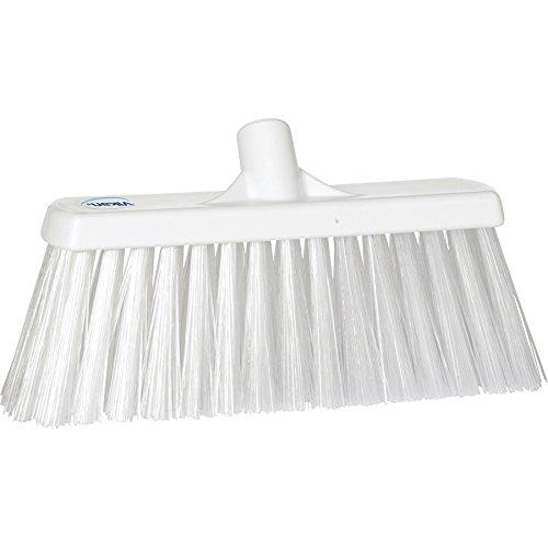 "Vikan 29155 Heavy Duty Block Sweep Floor Broom Head, PET Bristle Polypropylene, 12-3/4"", White"