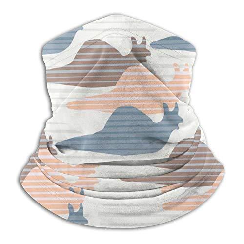 Silueta de caracol rosa azul y marrón unisex cálido cuello Headgear bufanda pasamontañas, clima frío invierno deportes al aire libre turbante