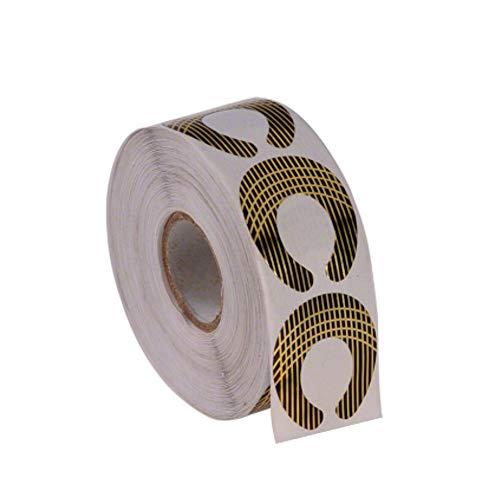 GS-Nails 500 Modellierschablonen Rund selbstklebend Square-Gold Nagelschablonen für Gel Verlängerung
