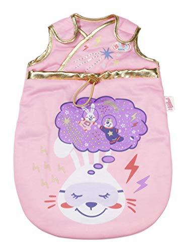 Zapf Creation 831120 BABY born Happy Birthday Schlafsack - rosa Puppenschlafsack für 43cm Puppen mit goldenen Verzierungen und Weltraum-Drucken, mit Klettverschluss zum einfachen Öffnen