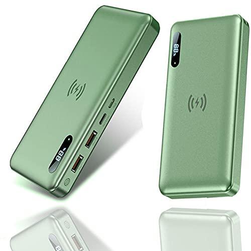 Batería Externa Inalámbrico 30000Mah, Power Bank con PD 65W QC 4.0 Carga Rápida + 15W Carga Inalambrica, 4 Salidas, Tipo C Cargador Portátil para iPhone Samsung Android Móviles Y Más