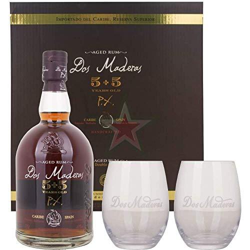 Dos Maderas PX 5+5 Years Old Aged Rum mit 2 Gläsern 40,00{cbe5a719da78e98a96ffbb395d4aa9854cf39504bc6636d09a937b6af81346c5} 0,70 Liter