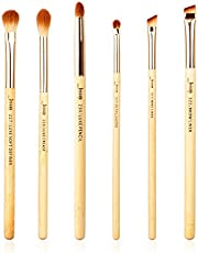 Jessup Pennelli 6Pz Set di pennelli per occhi in bambù con polvere per capelli sintetica Ombretto Shader Eyeliner Sopracciglio Blending Shading T141