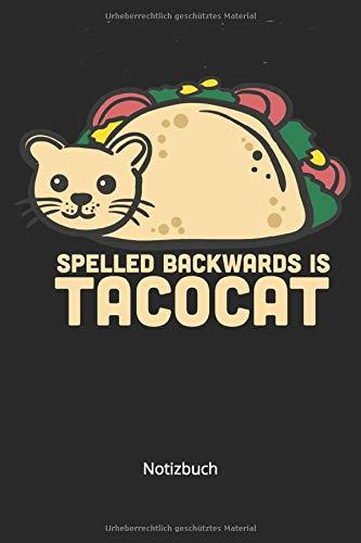 Notizbuch: Tacocat Notizbuch Mexikanisches Essen für Taco Liebhaber (Liniertes Notizbuch mit 100 Seiten für Eintragungen aller Art)