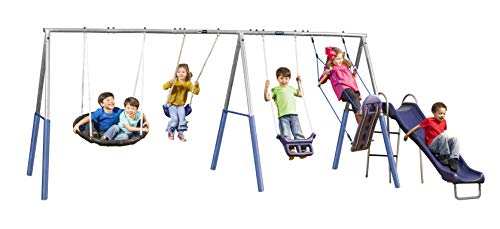 XDP Recreation Surf N Swing'in Swing Set, Gray