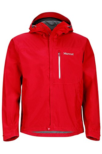 Marmot Men's Minimalist Lightweight Waterproof Rain Jacket, GORE-TEX with PACLITE Technology, Large, Team Red