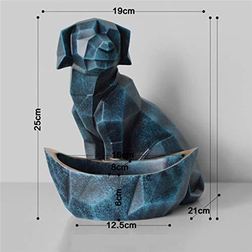 YJWKR Sculptuur decoratie Moderne Hars Hond abstracte sculptuur Kat standbeelden Decoratie Geometrische ambachten Gift TV kabinet Kantoor standbeeld snoep sleutel opslag Doos