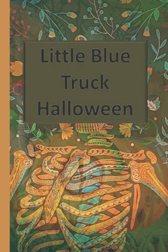 Little Blue Truck Halloween: Halloween Blank Ruled 6 x 9 in 120 Pages Note Book Black Bat Pattern. Primary Hallowen Notebook Collected Work Of Jim Morrison