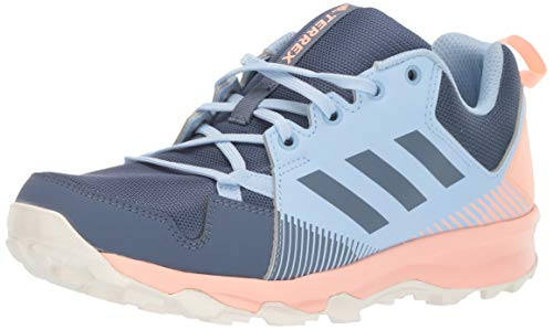 adidas outdoor Women's Terrex Tracerocker Trail Running Shoe, TECH Ink/TECH Ink/Glow Pink, 10 M US