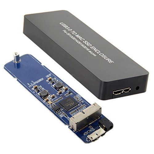 JSER Custodia portatile con ingressi pin per MacBook Air Pro 2013,2014,2015,2016, SSD, USB 3.0a 16+ 12pin, custodia per HDD