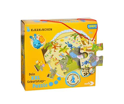 Noris 606031719 XXL Riesenpuzzle, Kikaninchen - mit 45 Teilen (Gesamtgröße: 64 x 44 cm) - für Kinder ab 3 Jahren