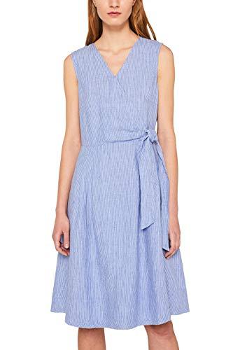 ESPRIT Damen 049EE1E014 Kleid, Blau (Bright Blue 410), (Herstellergröße: 36)