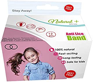 Repelz Hair Bands Individually Sealed Anti Lice| Comfortable & Nylon Ponytail | Lice Repellent Made with Natural Tea Tree and Peppermint Essential Oils| Provides Protection against Lice| 12 Pack-Black