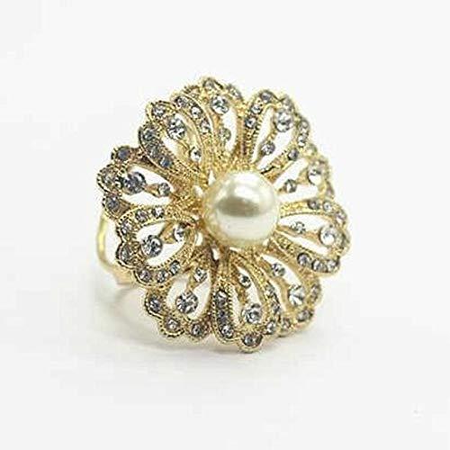 Moda tricíclica flor cristal bufanda titular broche de seda Clips Retro ojo de gato piedra flor broches alfileres joyería-oro