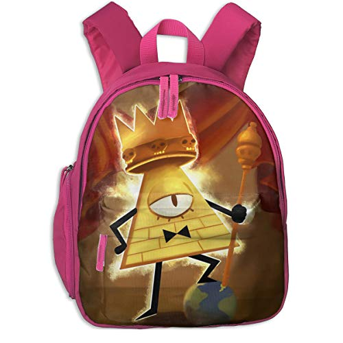 Water Resistant Kid Backpack, Gravity Falls King Of Human Will Bill Cipher Fishing Backpack With Adjustable Shoulder Straps, Tear Resistant Unique Student Bag for Teen Youth