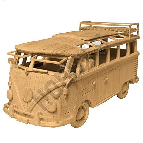 SM Matchstick Kit - Volkswagen VW Camper Van Replica - Classic Camper Van